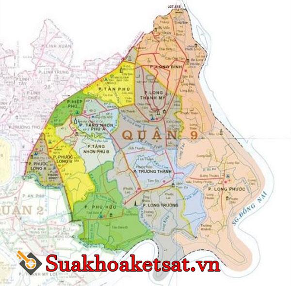 Bản đồ quận 9 TPHCM