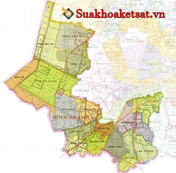 Bản đồ quận Bình Chánh TPHCM