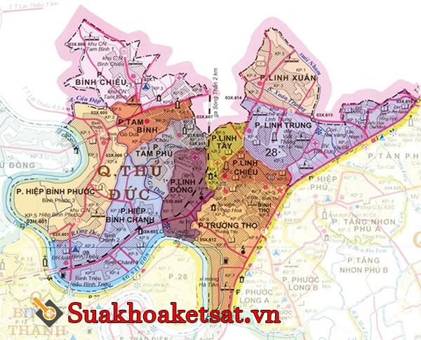 Bản đồ quận Thủ Đức TPHCM